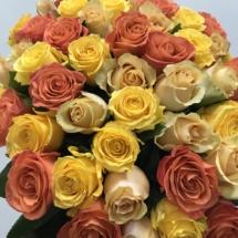 51 апельсиновые розы